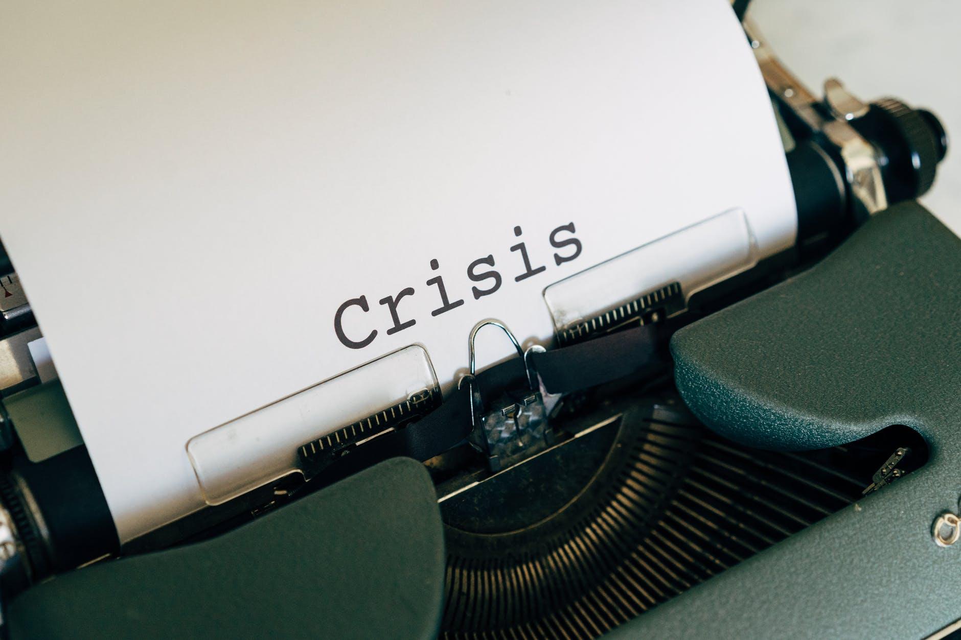 white paper on a vintage typewriter